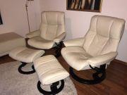 2 Kensington Stressless Leder-Sessel mit