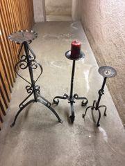 Kerzenständer Schmiedeeisen 3 Stück