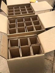3 Kisten für Flaschenversand oder