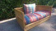 RATTAN Sofa - 2 Sitzer guter