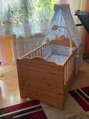 babybett mit Zubehör Baby Matratze