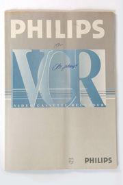 Orig Bedienungsanleitung Philips VCR 252