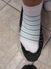 Socken getragen und duftend