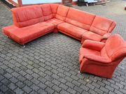 Eck-Couch mit Sessel