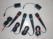4x SingStar USB Mikrofone PlayStation