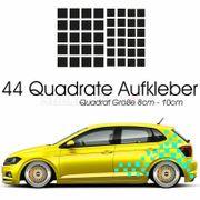 Zielflagge Aufkleber Auto Quadrat Racing
