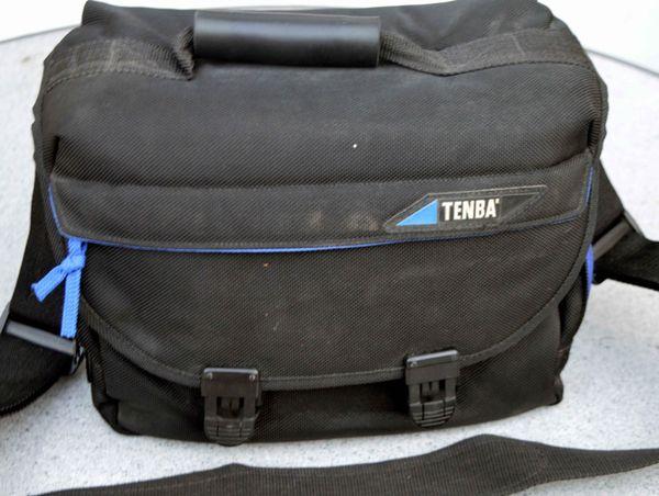 Große Kameratasche/ Fototasche von Tenba schwarz/blau