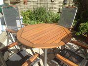 Terrassenmöbel Garnitur Tisch und 4