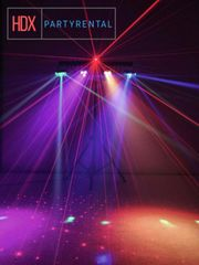 Musikanlage und Disco Licht für