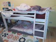 Kinderhochbett halbhoch geeignet für 6