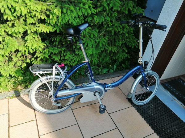 Faltrad Flayer mit Akku blau