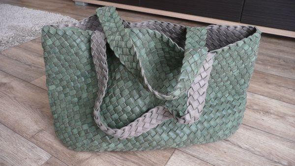 e83d21fc7cd98 Tasche Wendetasche geflochten Schultertasche Damen Shopper Neu in ...