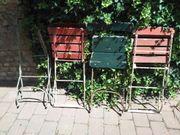 4 antike Biergartenstühle