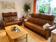 Hochwertige Vollleder Couch Sofa Elementgruppe
