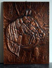 Kupferbild Pferd datiert auf 1984