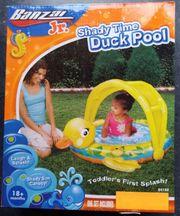 Baby Planschbecken mit Sonnenschutz neu
