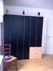 Kleiderschrank Schrank schwarz