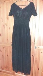 Abendkleid lang schwarz 34 36