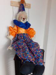 Clownmarionette aus Porzellan und 4
