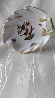 Blattschale Porzellan