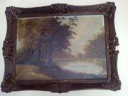 Vier schöne ältere Gemälde Drucke