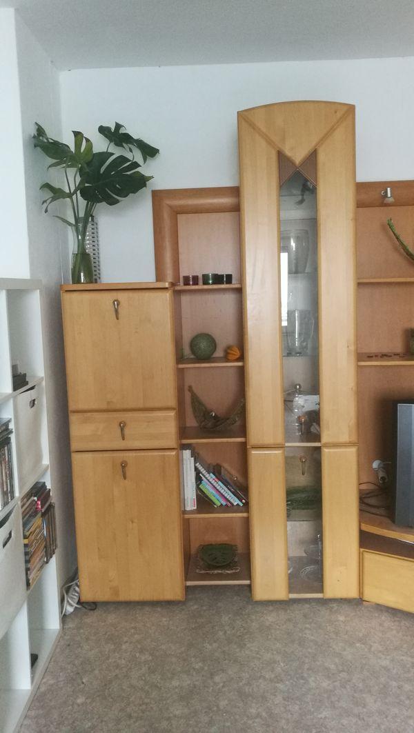 Wohnzimmer Schrankwand Holz Zu Verschenken In Ulm