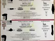 2x Metallica Worldwired Tour 2019