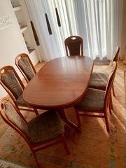 Esstisch und Stühle zu verschenken