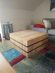 Couchtisch quadratisch Holz 80x80x39cm