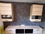 Wohnzimmermöbel Wohnwand Eiche Nachbildung bestehend