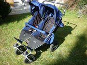 Zwillings-Kinderwagen mit vielem Zubehör