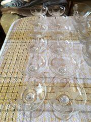 Ichendorf Glashütte Gläserservice Lotusblume 50er-Jahre