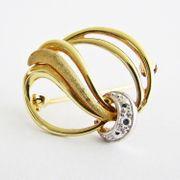 Brosche Gold 585er Diamant 14