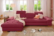 NUR 50 Ecksofa Couch Rot