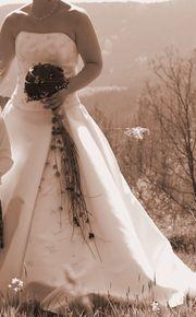 Hochzeitskleid cremeweis Größe 38 - 3