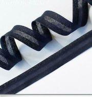 Schrägband dunkelblau 15mm x10m gefalzt