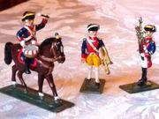 3 neuw Zinnsoldaten Preußen vom