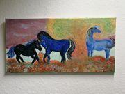 Acryl auf Leinwand Pferde Einhorn