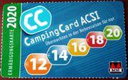 Angeboten ACSI Campingcard 2020