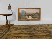 großes Wandbild schöner Holzrahmen 60