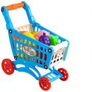 NEU Kinder Einkaufswagen Blau Set