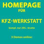 KFZ-Werkstatt Homepage Webseiten Demos online