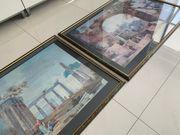 2 Bilder gerahmt hinter Glas