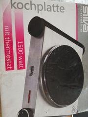 Kochplatte mit Thermostat