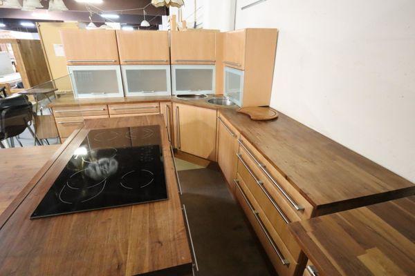 Küche komplett 950 lang Kochinsel, Esstisch hochwertig - HH23701