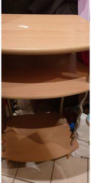 Telefontisch Hochtisch Gebrauchsspuren oben Fläche