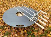 Steckerlfisch auf Grillplatte grillen - Edelstahlspieße -