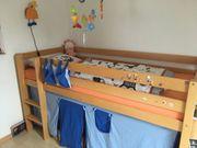 Kinderzimmer 4-teilig Hochbett mit Spielhöhle