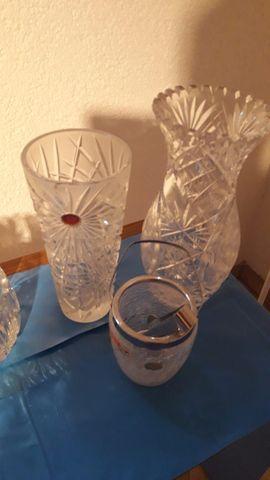 Bleikristallvasen Schalen Eiseimer 24 PBO: Kleinanzeigen aus Ingelheim - Rubrik Glas, Porzellan antiquarisch
