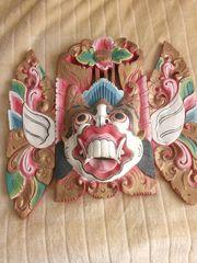 Balinesische Holzmaske Bali Holzschnitzerei